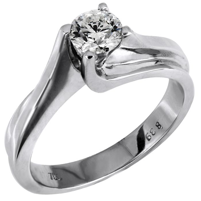 Δαχτυλίδι γυναικείο με διαμάντι 018090 018090 Χρυσός 18 Καράτια χρυσά κοσμήματα δαχτυλίδια μονόπετρα