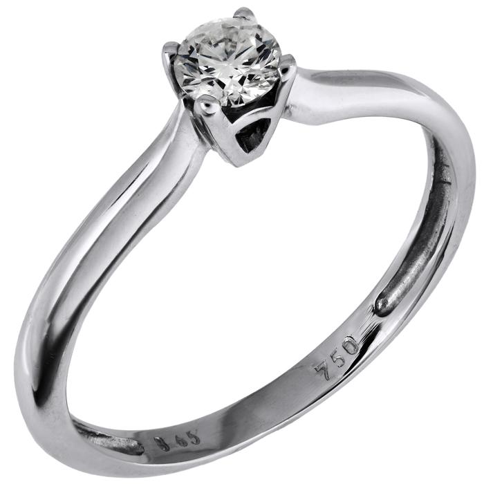 Μονόπετρο δαχτυλίδι με μπριγιάν 18K 002270 Χρυσός 18 Καράτια