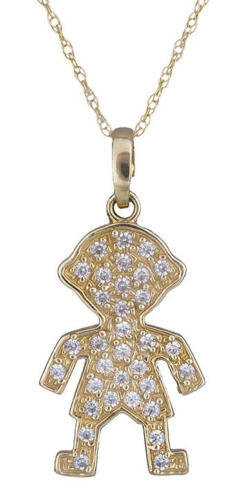 Κολιέ με πετράτο αγοράκι Κ14 000194 000194 Χρυσός 14 Καράτια