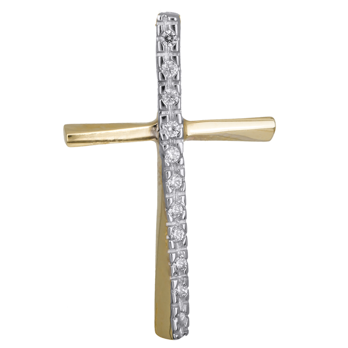 Σταυρός με πέτρες ζιργκόν 14 Κ 001991 001991 Χρυσός 14 Καράτια