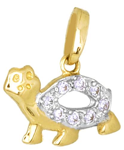Παιδικό Δίχρωμο Κρεμαστό Κ14 000200 Χρυσός 14 Καράτια
