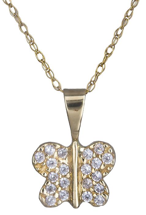 Γυναικείο κολιέ πεταλούδα Κ14 000202 000202 Χρυσός 14 Καράτια