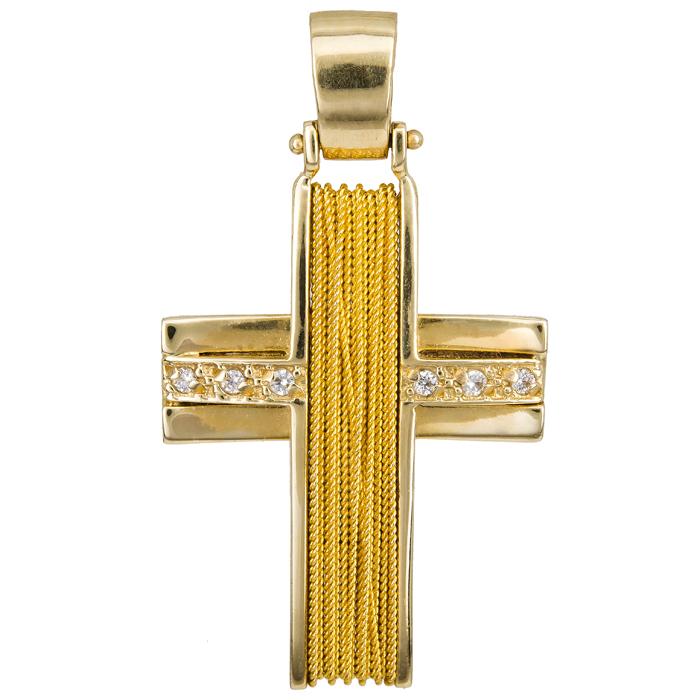 Σταυροί Βάπτισης - Αρραβώνα Χρυσός Σταυρός 14 καράτια 002056 002056 Γυναικείο Χρυσός 14 Καράτια