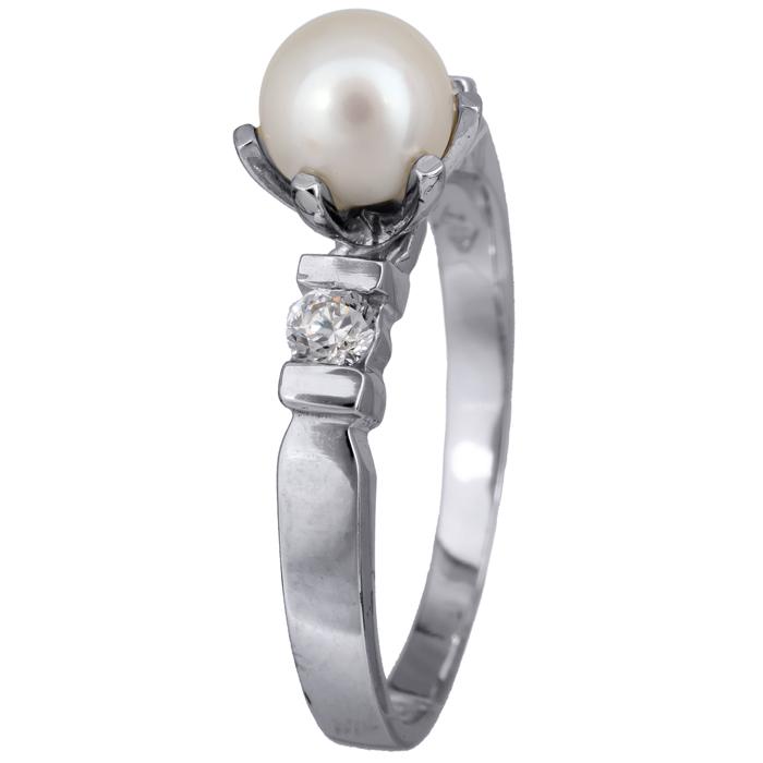 Γυναικείο δαχτυλίδι λευκόχρυσου 013817 013817 Χρυσός 9 Καράτια