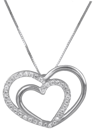 Λευκόχρυση Καρδιά Κ14 000229 000229 Χρυσός 14 Καράτια χρυσά κοσμήματα καρδιές