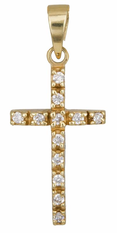Χρυσός σταυρός Κ14 002435 002435 Χρυσός 14 Καράτια