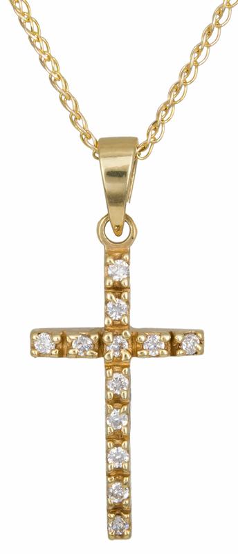 Χρυσός σταυρός Κ14 C002435 002435C Χρυσός 14 Καράτια
