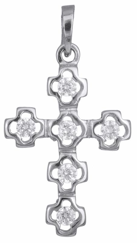 Σταυροί Βάπτισης - Αρραβώνα Σταυρός λευκόχρυσος Κ14 002437 002437 Γυναικείο Χρυσός 14 Καράτια
