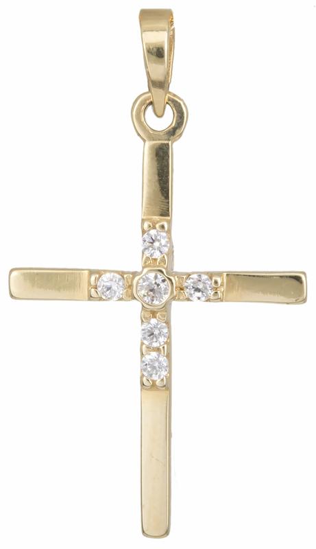 Σταυρός χρυσός 14 καράτια 002438 002438 Χρυσός 14 Καράτια χρυσά κοσμήματα σταυροί
