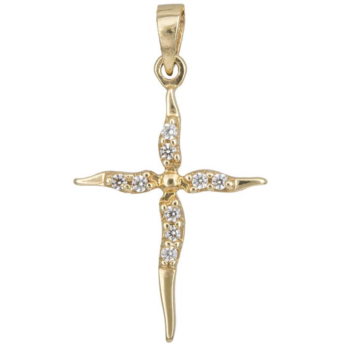 Σταυροί Βάπτισης - Αρραβώνα Χρυσός σταυρός γυναικείος Κ14 002445 002445 Γυναικείο Χρυσός 14 Καράτια