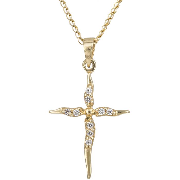 Χρυσός σταυρός Κ14 C002445 002445C Χρυσός 14 Καράτια χρυσά κοσμήματα σταυροί