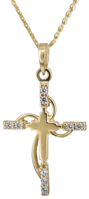 Βαπτιστικοί Σταυροί με Αλυσίδα Χρυσός σταυρός Κ14 C002446 002446C Γυναικείο Χρυσός 14 Καράτια