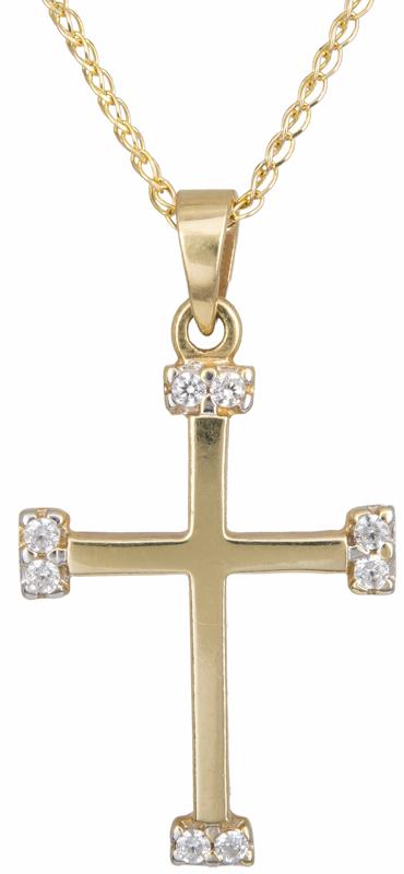 Σταυρός χρυσός 14K C002456 002456C Χρυσός 14 Καράτια χρυσά κοσμήματα σταυροί