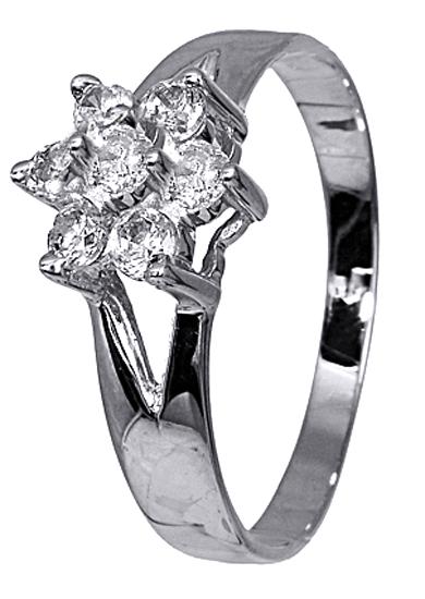 Λευκόχρυσο δαχτυλίδι 14 καράτια 002539 002539 Χρυσός 14 Καράτια χρυσά κοσμήματα δαχτυλίδια με μαργαριτάρια και διάφορες πέτρες