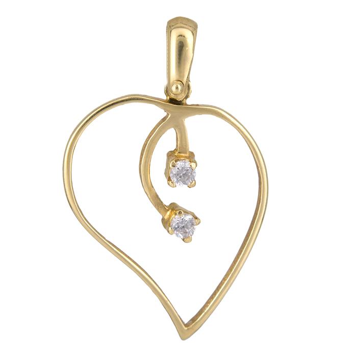Χρυσή Καρδιά Κ14 000254 000254 Χρυσός 14 Καράτια χρυσά κοσμήματα καρδιές