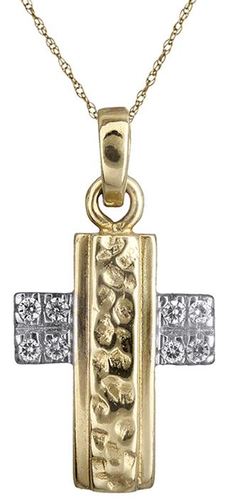 Δίχρωμος Σταυρός Κ14 000290 000290 Χρυσός 14 Καράτια χρυσά κοσμήματα σταυροί