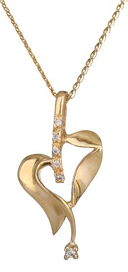 Χρυσό κολιέ καρδιά 14Κ 000368 000368 Χρυσός 14 Καράτια χρυσά κοσμήματα καρδιές