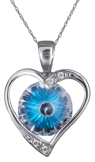 Κολιέ με λευκόχρυση Καρδιά Κ14 000370 000370 Χρυσός 14 Καράτια χρυσά κοσμήματα καρδιές