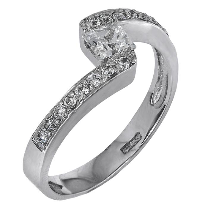 Λευκόχρυσο Δαχτυλίδι Κ14 000429 000429 Χρυσός 14 Καράτια