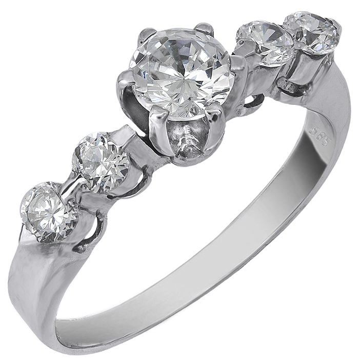 Λευκόχρυσο Δαχτυλίδι Κ14 000434 000434 Χρυσός 14 Καράτια