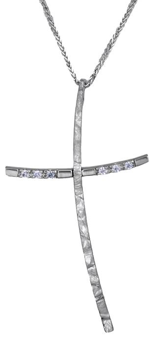 Βαπτιστικοί Σταυροί με Αλυσίδα Γυναικείος σταυρός αρραβώνα C000444 000444C Γυναικείο Χρυσός 14 Καράτια