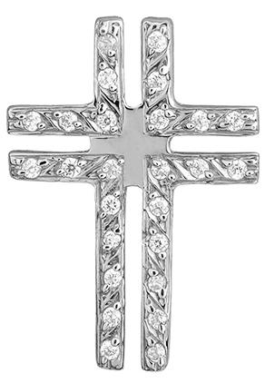 Λευκόχρυσος Σταυρός Κ14 000453 000453 Χρυσός 14 Καράτια χρυσά κοσμήματα σταυροί