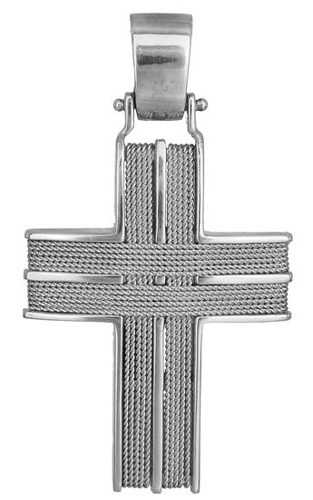 Σταυροί Βάπτισης - Αρραβώνα Λευκόχρυσος Σταυρός Κ14 000048 000048 Ανδρικό Χρυσός 14 Καράτια