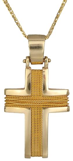 Βαπτιστικοί Σταυροί με Αλυσίδα Βαπτιστικός χρυσός σταυρός C000538 000538C Ανδρικό Χρυσός 14 Καράτια