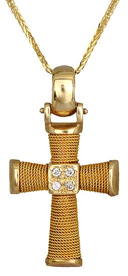 Βαπτιστικοί Σταυροί με Αλυσίδα Σταυρός βάπτισης για κορίτσι Κ14 C000574 000574C Γυναικείο Χρυσός 14 Καράτια