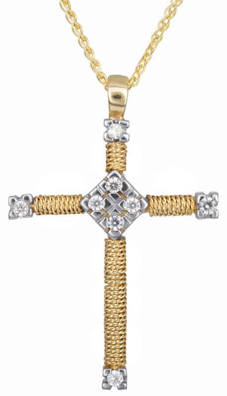 Βαπτιστικοί Σταυροί με Αλυσίδα Συρματερός σταυρός με αλυσίδα Κ14 C000628 000628C Γυναικείο Χρυσός 14 Καράτια