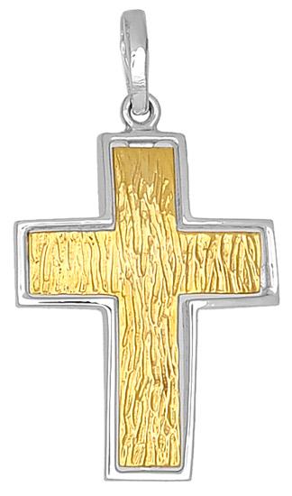 Σταυροί Βάπτισης - Αρραβώνα Δίχρωμος Σταυρός Κ14 000637 Ανδρικό Χρυσός 14 Καράτια