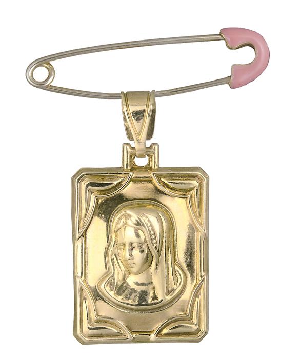Χρυσό Φυλαχτό διπλής όψης Κ9 C017564 017564C Χρυσός 9 Καράτια