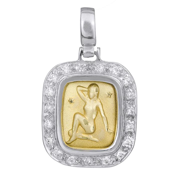 Δίχρωμο Ζώδιο Κ14 000796 000796 Χρυσός 14 Καράτια
