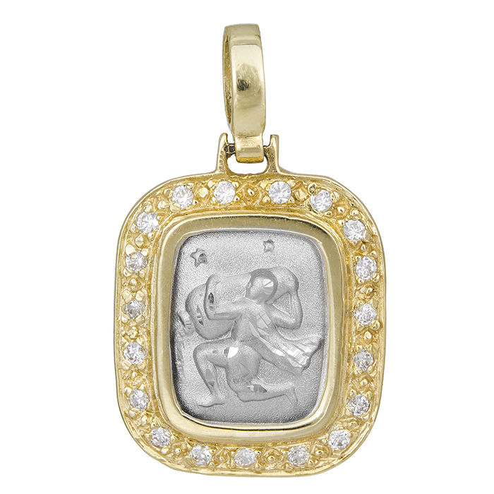 Δίχρωμο Ζώδιο Κ14 000807 000807 Χρυσός 14 Καράτια