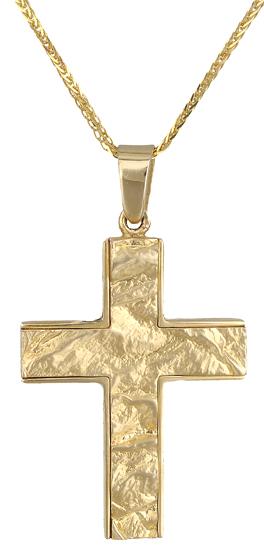 Βαπτιστικοί Σταυροί με Αλυσίδα Σταυρός βαπτιστικός 14Κ C000854 000854C Ανδρικό Χρυσός 14 Καράτια