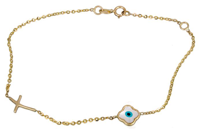 Χρυσό Βραχιόλι Κ14 000876 Χρυσός 14 Καράτια χρυσά κοσμήματα βραχιόλια