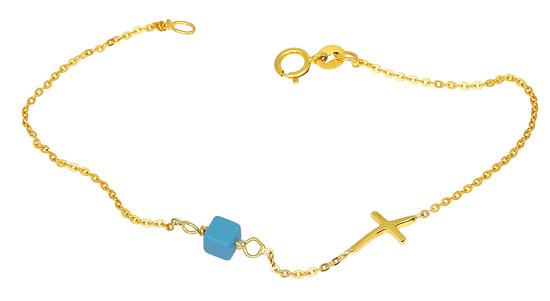 Χρυσό Βραχιόλι Κ14 000889 Χρυσός 14 Καράτια χρυσά κοσμήματα βραχιόλια