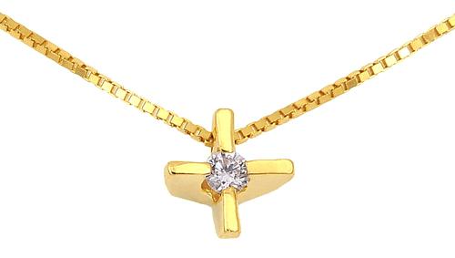 Χρυσός Σταυρός Κ18 με διαμάντι 000938 000938 Χρυσός 18 Καράτια