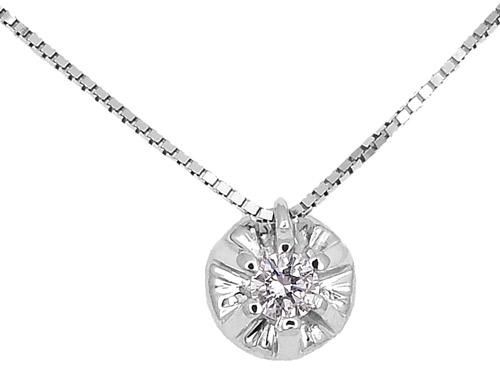 Λευκόχρυσο Κρεμαστό Κ18 με διαμάντι 000939 Χρυσός 18 Καράτια