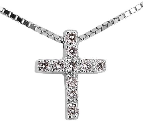 Λευκόχρυσος Σταυρός Κ18 με διαμάντια 000943 000943 Χρυσός 18 Καράτια χρυσά κοσμήματα κολιέ