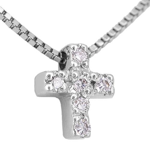 Λευκόχρυσος Σταυρός Κ18 με διαμάντια 000945 Χρυσός 18 Καράτια χρυσά κοσμήματα κολιέ