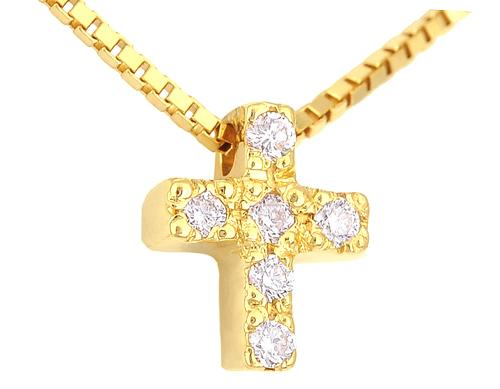 Χρυσός Σταυρός Κ18 με διαμάντια 000946 Χρυσός 18 Καράτια