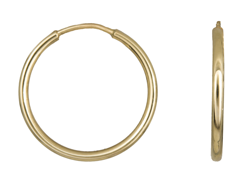 Χρυσά Σκουλαρίκια Κρίκοι Κ14 001012 001012 Χρυσός 14 Καράτια