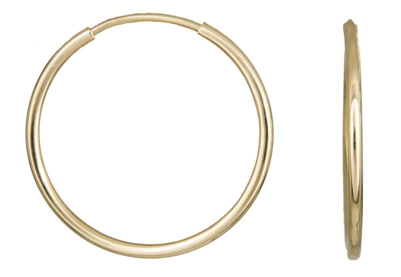 Χρυσά Σκουλαρίκια Κρίκοι Κ14 001013 001013 Χρυσός 14 Καράτια