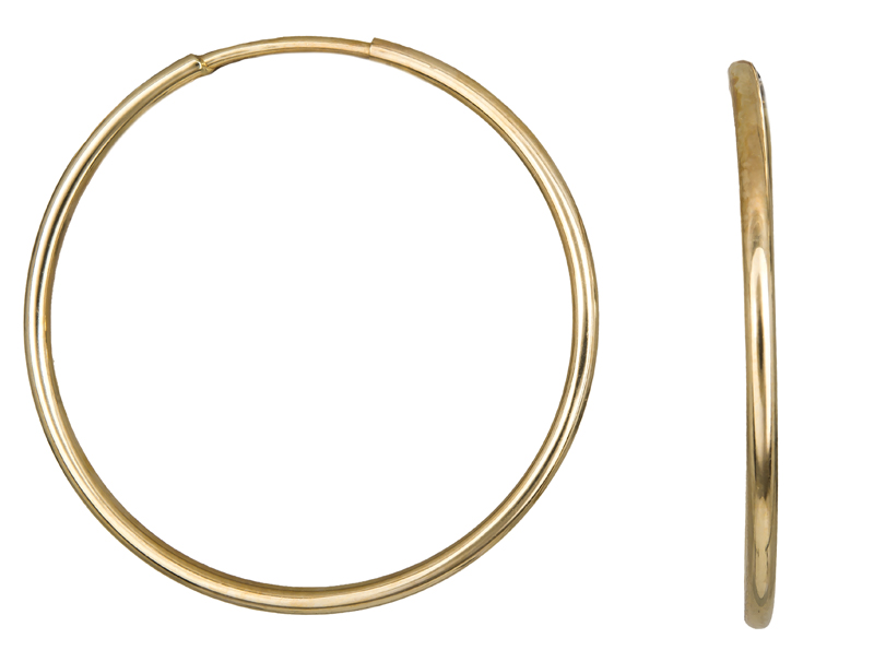 Χρυσά Σκουλαρίκια Κρίκοι Κ14 001014 001014 Χρυσός 14 Καράτια χρυσά κοσμήματα σκουλαρίκια κρίκοι πάχος 1 5mm