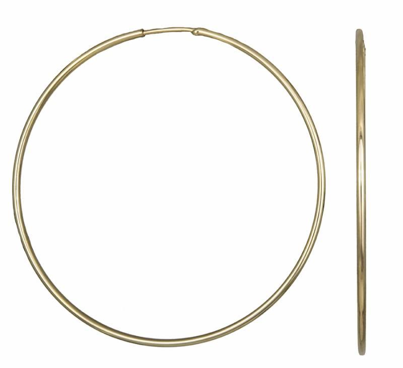 Χρυσά Σκουλαρίκια Κρίκοι Κ14 001018 001018 Χρυσός 14 Καράτια χρυσά κοσμήματα σκουλαρίκια κρίκοι πάχος 1 5mm