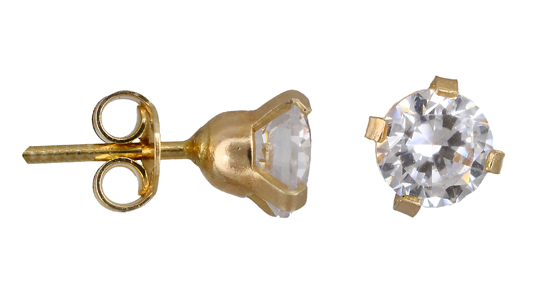 Χρυσά Σκουλαρίκια Κ14 001077 001077 Χρυσός 14 Καράτια χρυσά κοσμήματα σκουλαρίκια καρφωτά