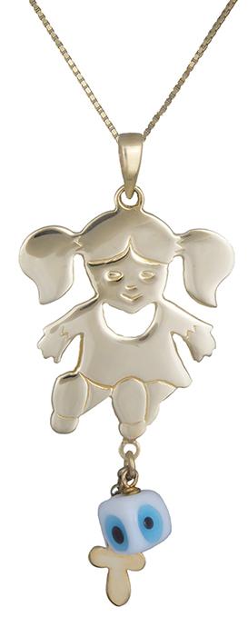 Παιδικό Χρυσό Κρεμαστό Κ14 001095 001095 Χρυσός 14 Καράτια χρυσά κοσμήματα κολιέ