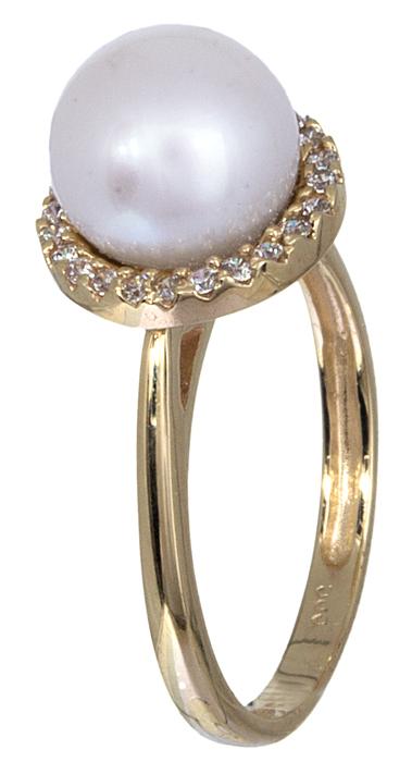Χρυσό δαχτυλίδι 14 Καράτια 001117 001117 Χρυσός 14 Καράτια χρυσά κοσμήματα δαχτυλίδια με μαργαριτάρια και διάφορες πέτρες