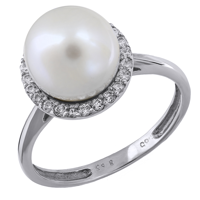 Λευκόχρυσο γυναικείο δαχτυλίδι Κ14 001118 001118 Χρυσός 14 Καράτια